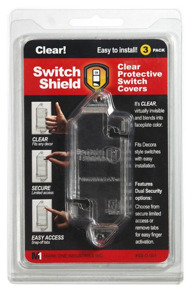clear light switch safety guard cover amp protector decora